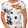 Balti vyriški marškinėliai su užrašais internetu pigiau S1438 19083-1