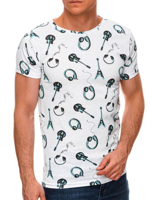 Balti vyriški marškinėliai su paveiksliukais internetu pigiau S1440 19085-3