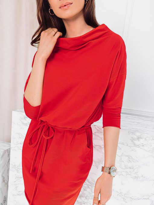 Raudona moteriška suknelė internetu pigiau DLR009 19095-1