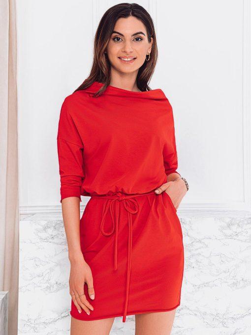 Raudona moteriska suknele internetu pigiau DLR009 19095-2