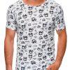 Balti vyriški marškinėliai su užrašais internetu pigiau S1450 19106-1