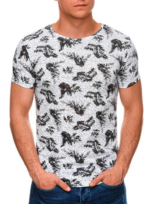 Juodi marginti vyriški marškinėliai internetu pigiau S1451 19110-1