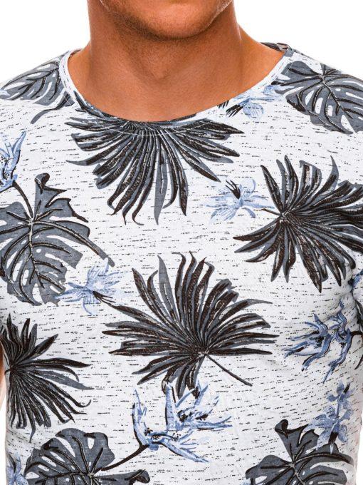 Gėlėti vyriški marškinėliai internetu pigiau S1283 19123-4