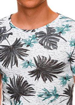 Gėlėti vyriški marškinėliai internetu pigiau S1283 19124-4