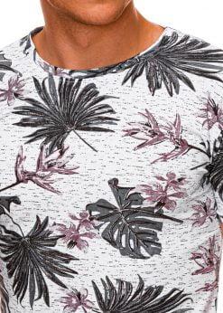 Gėlėti vyriški marškinėliai internetu pigiau S1283 19125-4