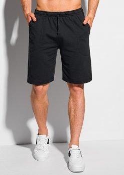 Juodi sportiniai šortai vyrams iki kelių internetu pigiau W331 19130-1