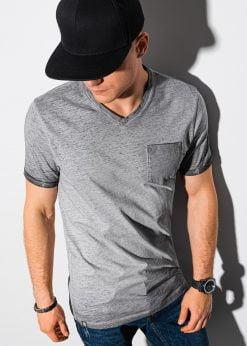 Pilki vyriški marškinėliai internetu pigiau S1388 19293-1