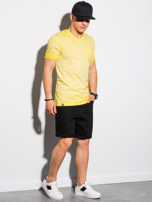 Geltoni vyriški marškinėliai internetu pigiau S1388 19294-1