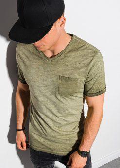Alyvuogių vyriški marškinėliai internetu pigiau S1388 19295-1