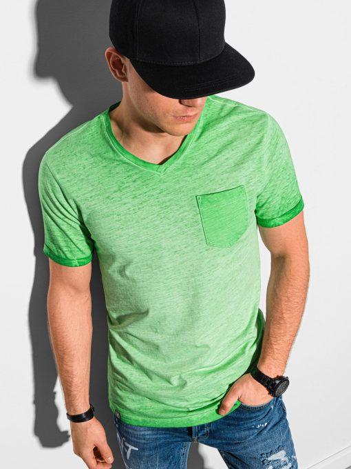 Žali vyriški marškinėliai internetu pigiau S1388 19296-1