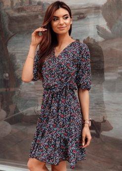 Juoda vasarine moteriska suknele internetu pigiau DLR016 19335-2