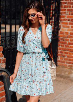 Mėtinė vasarinė moteriška suknelė internetu pigiau DLR018 19352-1