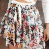 Baltas moteriškas sijonas su raukinukais internetu pigiau GLR010 19358-1