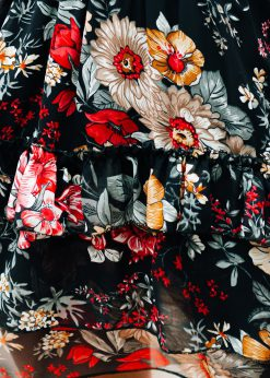 Juodas moteriskas sijonas su raukinukais internetu pigiau GLR011 19359-2