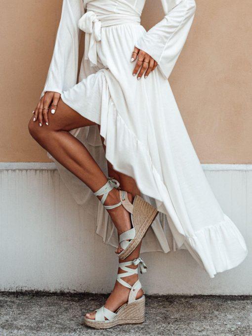 Baltas vasarinis moteriškas sijonas internetu pigiau GLR008 19361-1