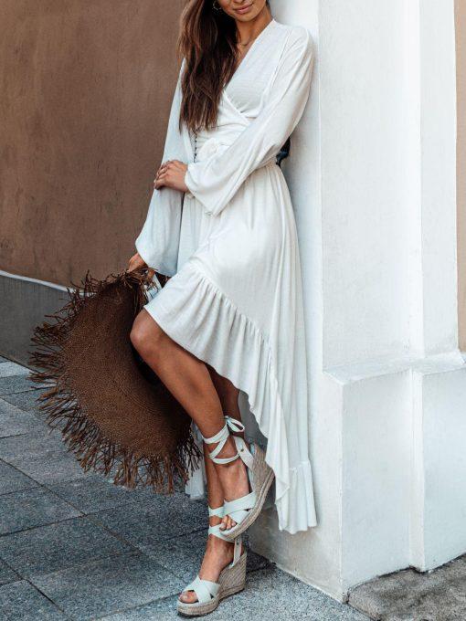 Baltas vasarinis moteriskas sijonas internetu pigiau GLR008 19361-2