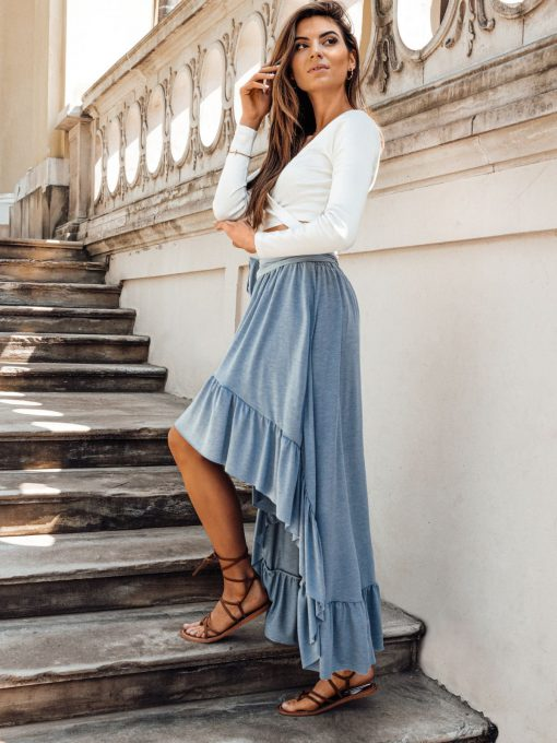 Mėlynas vasarinis moteriškas sijonas internetu pigiau GLR008 19362-1