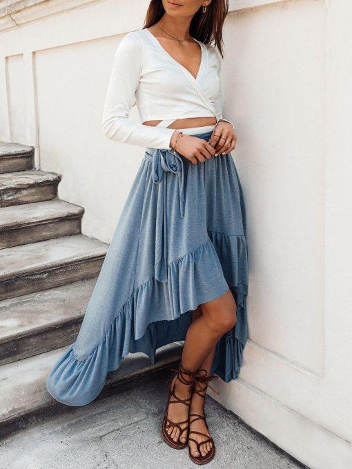 Melynas vasarinis moteriskas sijonas internetu pigiau GLR008 19362-2