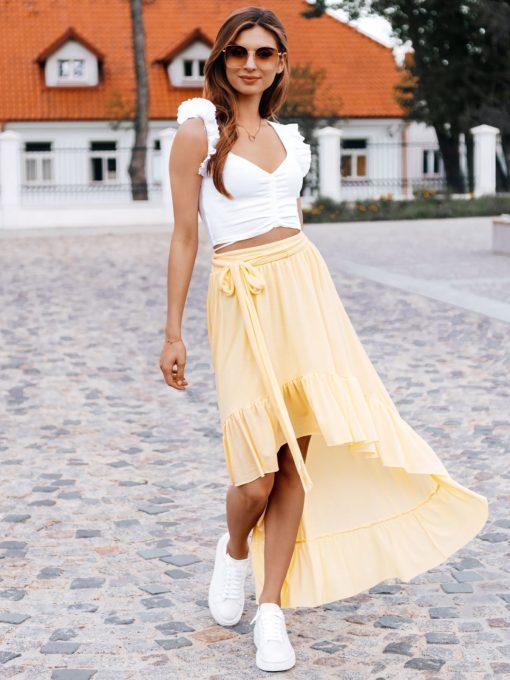 Moteriskas sijonas prailgintu galu internetu pigiau GLR008 19363-2