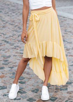 Geltonas moteriskas sijonas internetu pigiau GLR008 19363-3