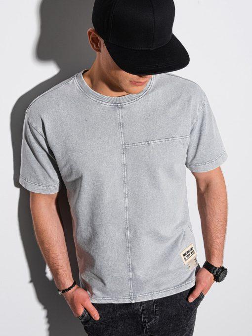 Pilki vyriški marškinėliai internetu pigiau S1379 19373-1