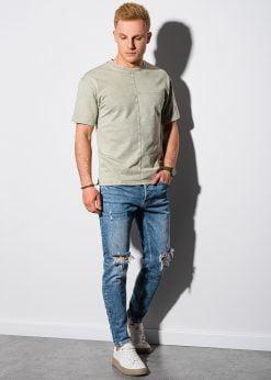 Alyvuogių vyriški marškinėliai internetu pigiau S1379 19375-1