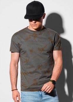 Tamsiai pilki vyriški marškinėliai internetu pigiau S1372 19404-1