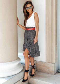 Juodas vasarinis moteriskas sijonas internetu pigiau GLR009 19416-1