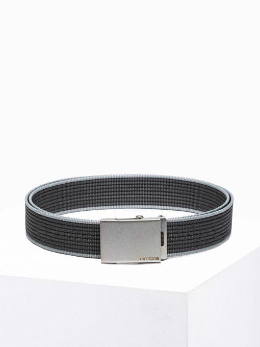 Tamsiai pilkas medžiaginis vyriškas diržas internetu pigiau A364 19141-2