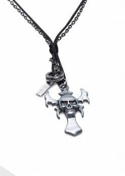 Juodas vyriškas vėrinys su kryžiuku internetu pigiau A403 19581-1