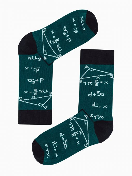 Žalios vyriškos kojinės su paveiksliukais internetu U150 19589-1