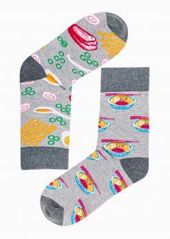 Pilkos vyriškos kojinės su paveiksliukais internetu U166 19729-1