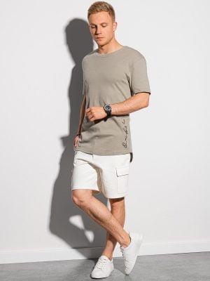 Peleniniai vyriški marškinėliai su prailginta nugara internetu pigiau S1387 19730-1