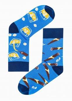 Mėlynos vyriškos kojinės su paveiksliukais U167 19732-4