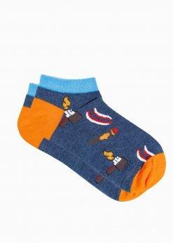 Trumpos vyriskos kojines su paveiksliukais internetu U174 19759-2