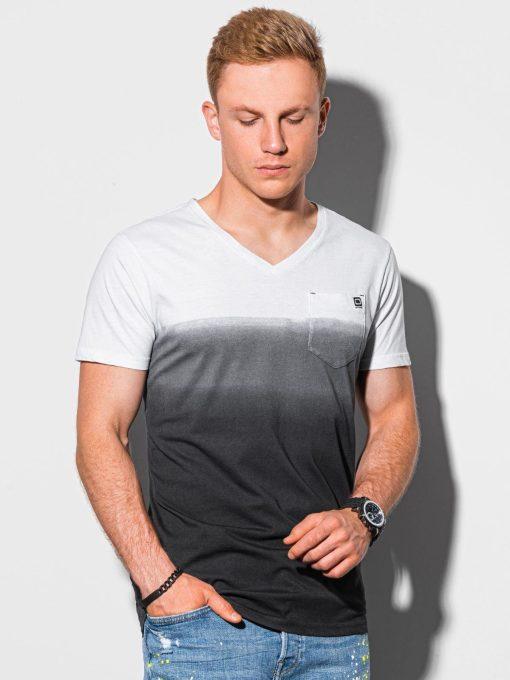 Juodi vyriški marškinėliai su kišenėle internetu pigiau S1380 19783-1