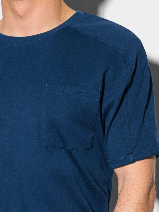 Tamsiai melyni vyriski marskineliai su kisenele internetu pigiau S1386 19792-2