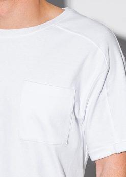 Balti vyriski marskineliai su kisenele internetu pigiau S1386 19793-3