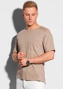 Peleniniai vyriški marškinėliai su kišenėle internetu pigiau S1386 19796-1