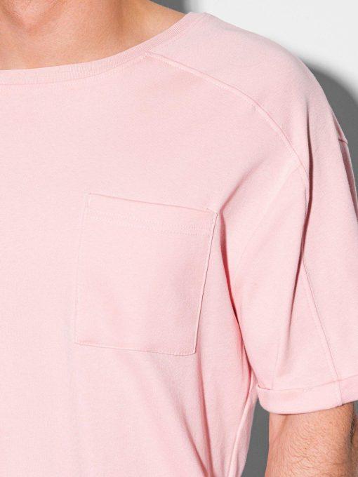 Sviesiai roziniai vyriski marskineliai su kisenele internetu pigiau S1386 19797-2