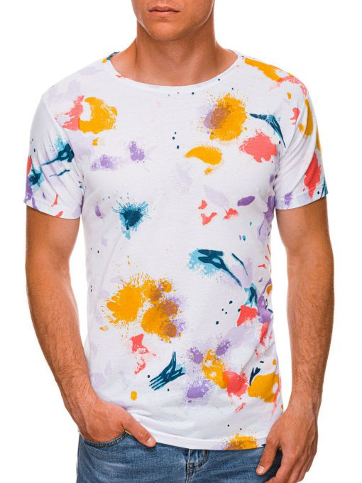 Balti vyriški marškinėliai internetu pigiau S1461 19807-1
