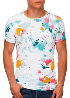 Balti vyriški marškinėliai internetu pigiau S1461 19820-1
