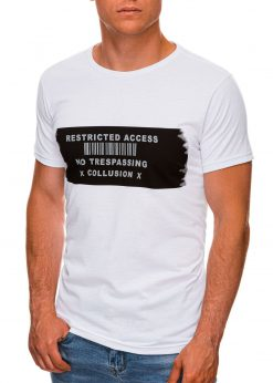 Balti vyriski marskineliai su uzrasais internetu pigiau S1465 19867-2