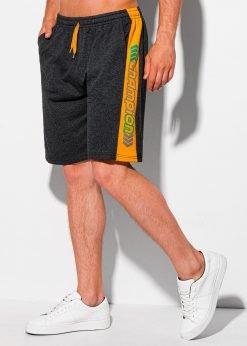 Tamsiai pilki sportiniai šortai vyrams internetu pigiau W332 19920-1