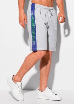 Pilki sportiniai šortai vyrams internetu pigiau W338 19924-1