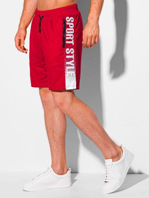 Raudoni sportiniai šortai vyrams internetu pigiau W342 19927-1