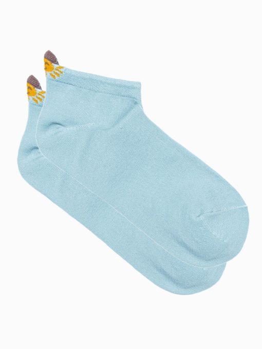 Mėlynos kokybiškos moteriškos kojinės ULR027 19942-1