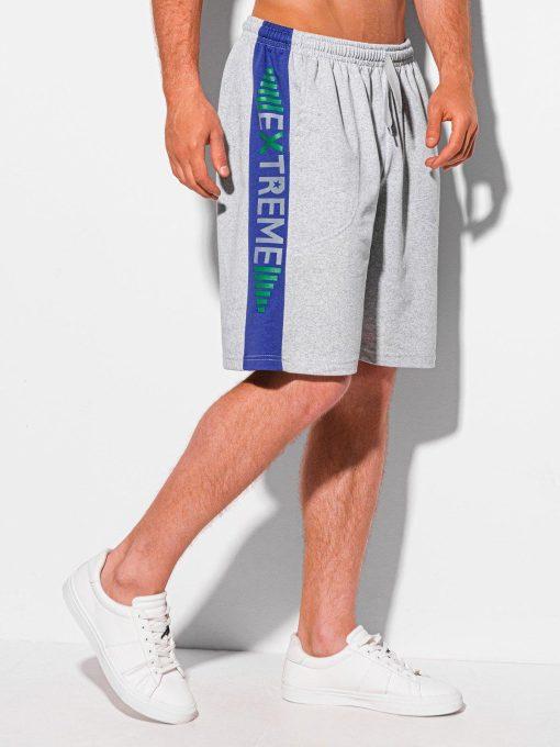 Pilki sportiniai šortai vyrams internetu pigiau W337 19944-2