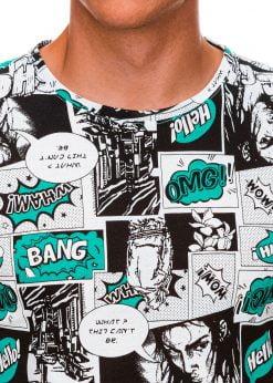 Balti vyriski marskineliai su komikso paveiksliukais internetu pigiau S1394 19962-2