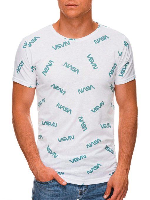 Balti vyriški marškinėliai su užrašais internetu pigiau S1391 19963-1
